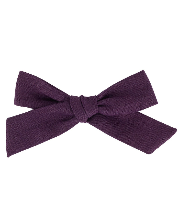 Little little accessories oversized schoolgirl bow in thistle