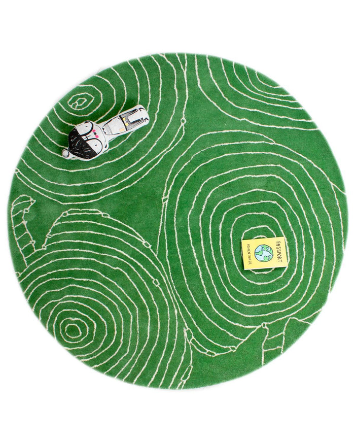 Little little p room Green Apple Rug