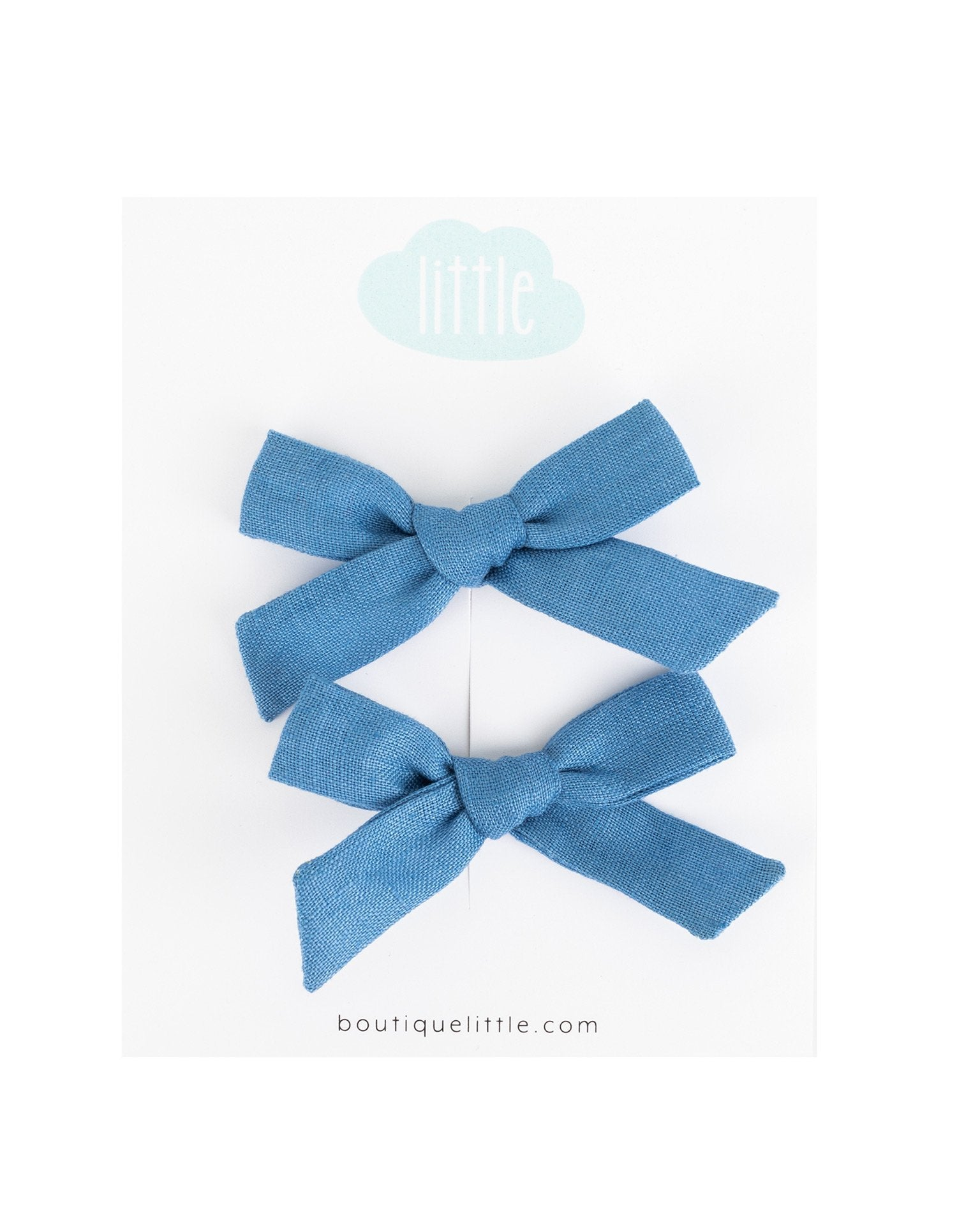 Little little accessories petite schoolgirl pigtail set in bluebell