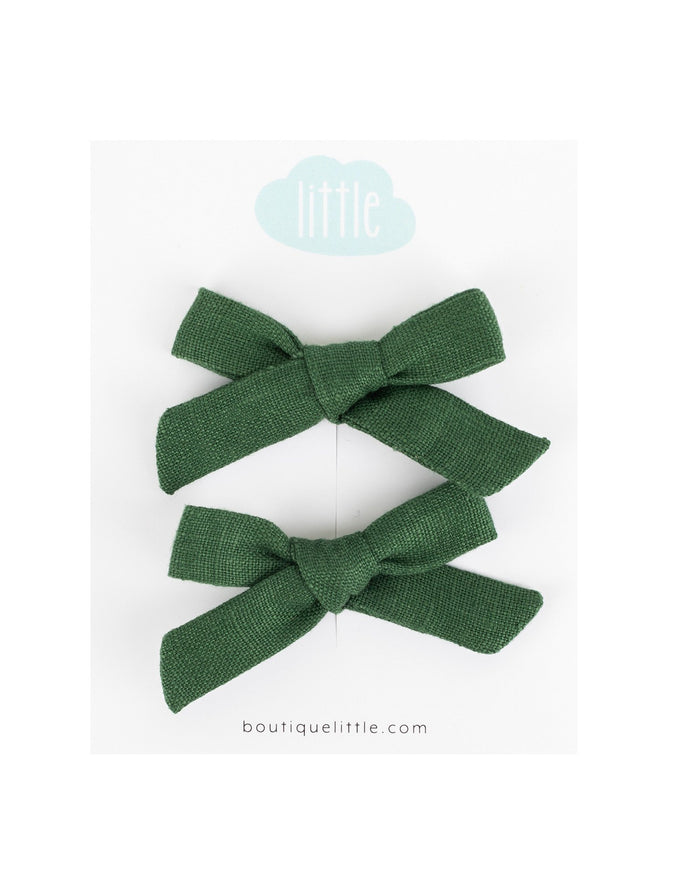 Little little accessories petite schoolgirl pigtail set in pine