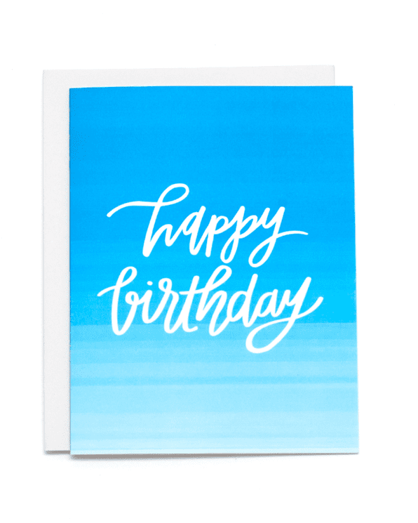 Little little print design paper+party Happy Birthday Card