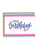 Little little print design paper+party Happy Birthday To One Of My Favorite People Card