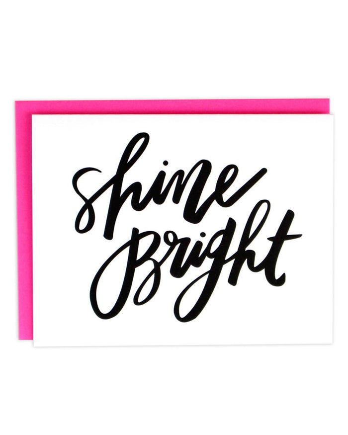 Little little print design paper+party Shine Bright Card