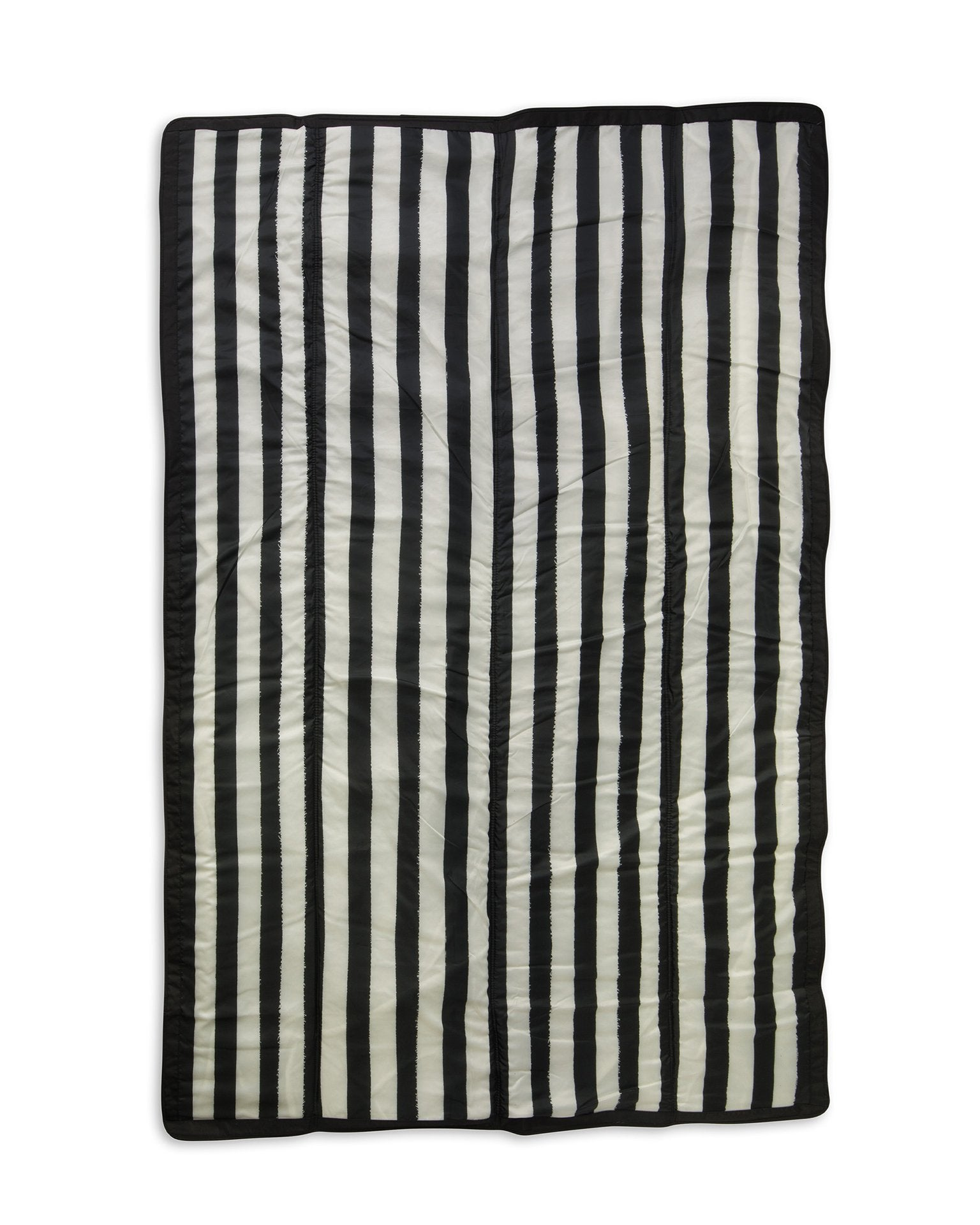 Little little unicorn play 5' x 7' outdoor blanket in black and white stripe