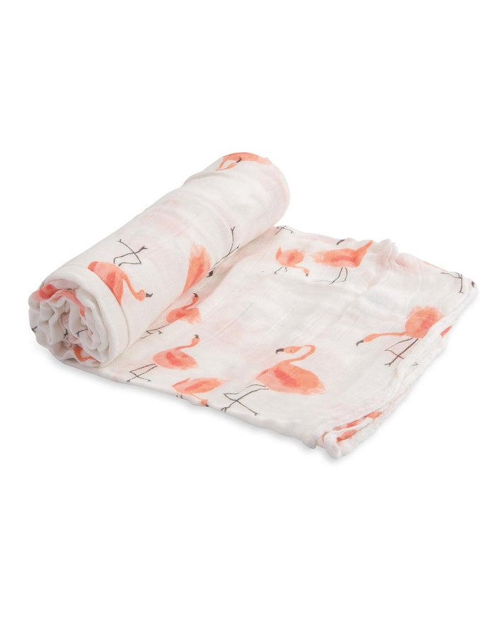 Little little unicorn baby accessories deluxe muslin swaddle in pink ladies