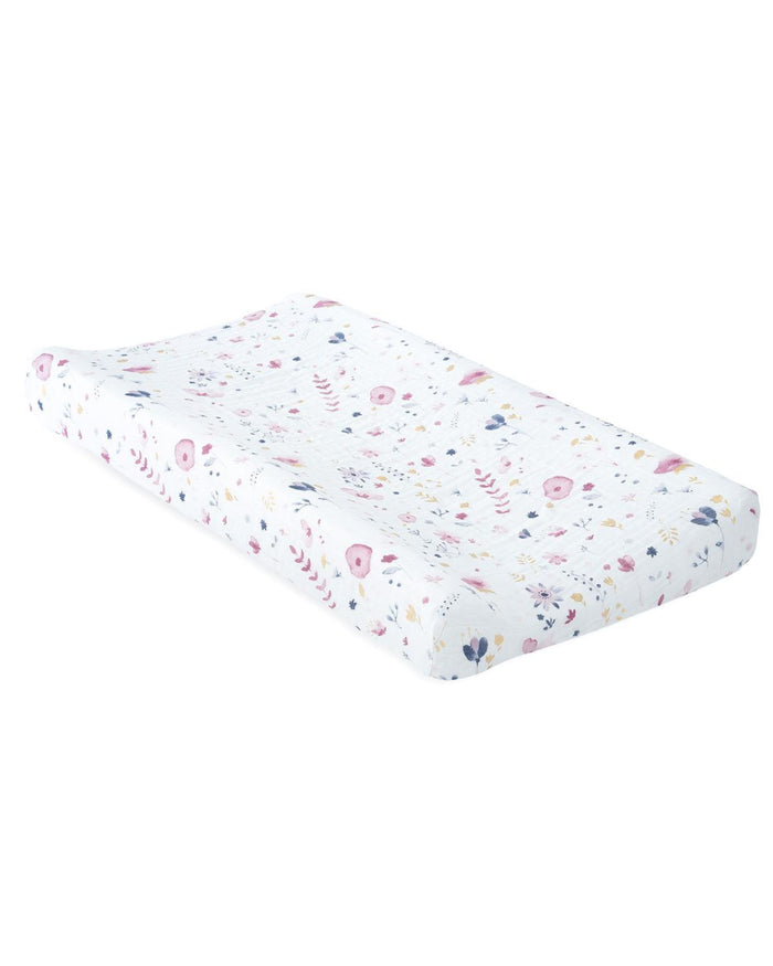 Little little unicorn room muslin changing pad cover in fairy garden