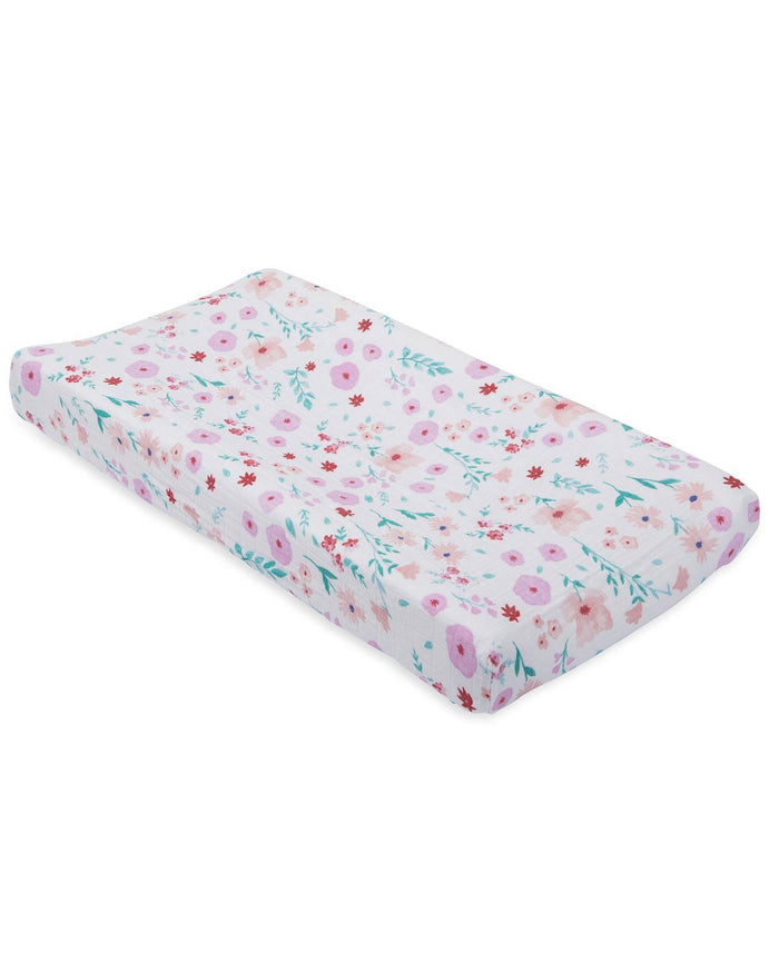 Little little unicorn room muslin changing pad cover in morning glory