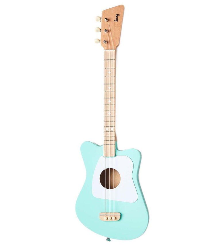 Little loog guitars play Loog Mini in Green
