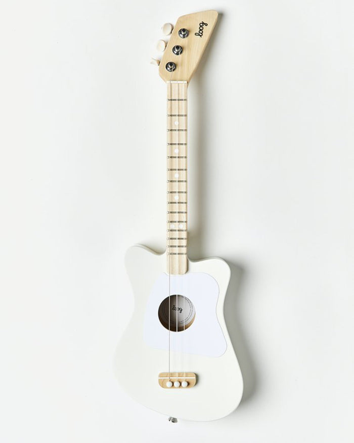 Little loog guitars play loog mini in white