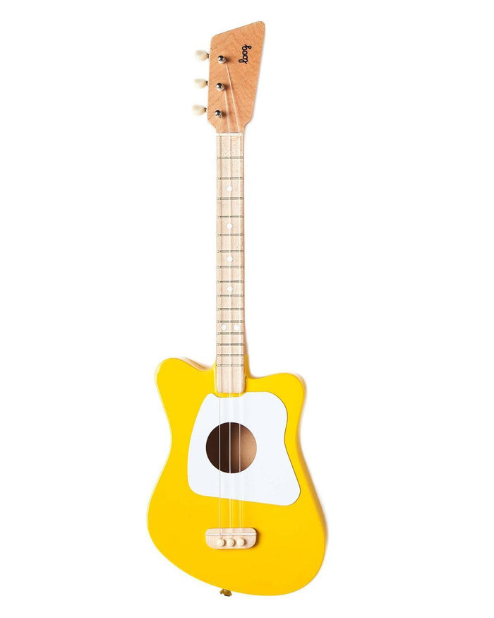 Little loog guitars play Loog Mini in Yellow