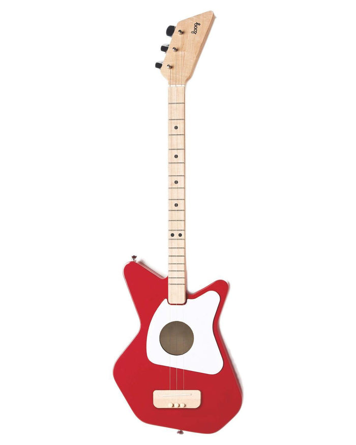 Little loog guitars play Loog Pro Acoustic in Red