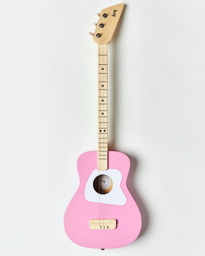 Little loog guitars play loog pro acoutsic in pink