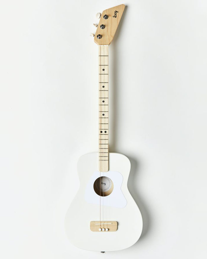 Little loog guitars play loog pro acoutsic in white