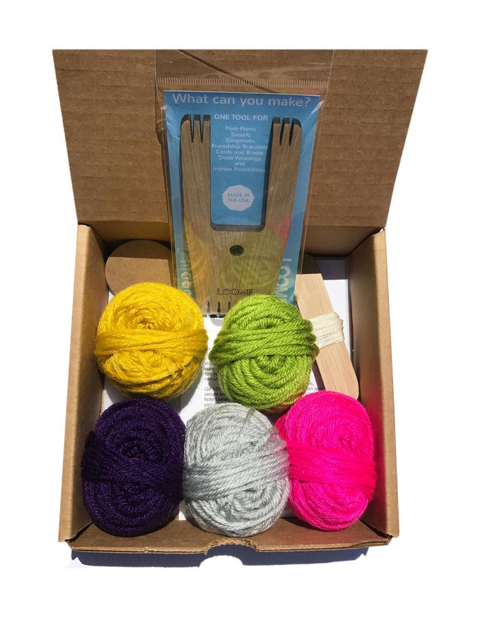 Little loome play Big A Pom Pom Kit in Bright