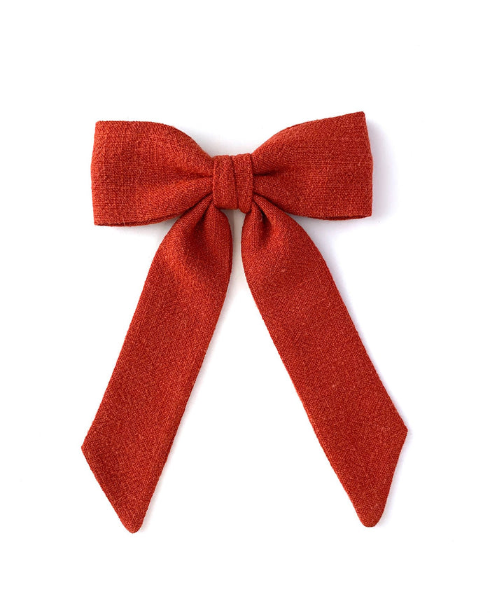 Little lululuvs accessories classic bow clip in cinnamon