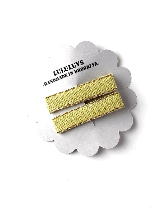 Little lululuvs accessories ribbon bar clips in chartreuse