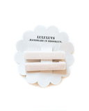 Little lululuvs accessories velvet bar clips in porcelain
