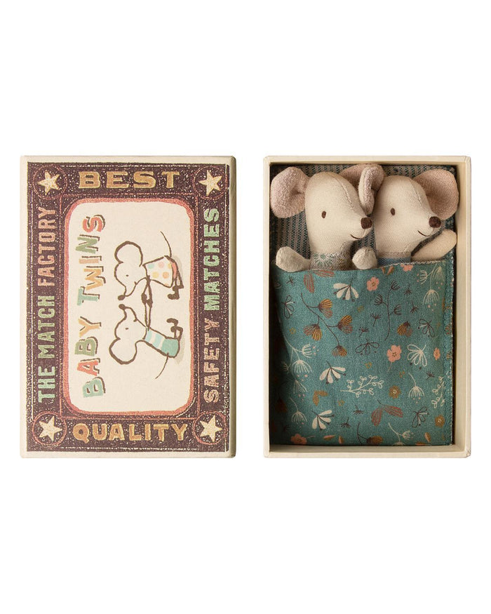 Little maileg play baby mice twins in box