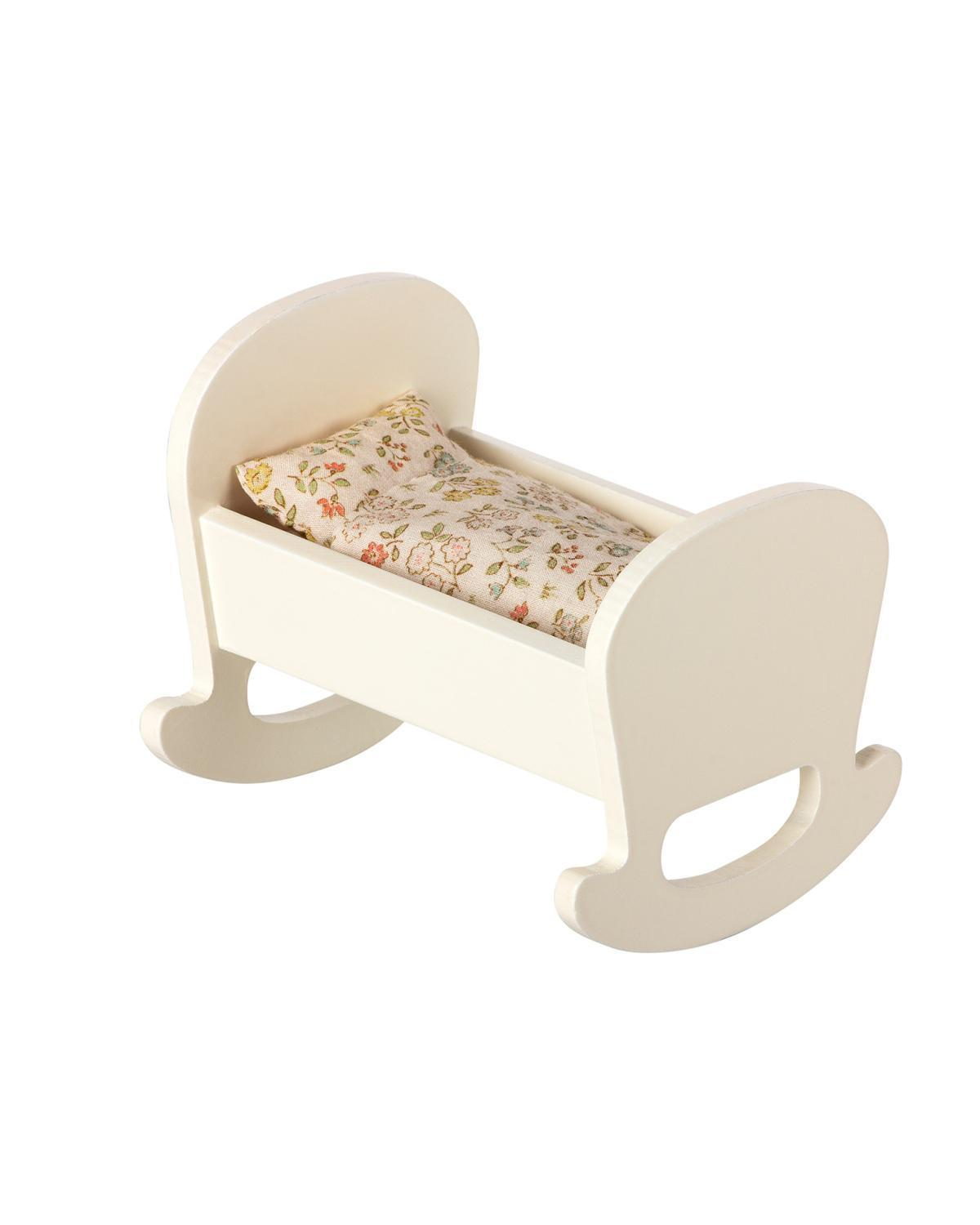 Little maileg play baby mouse cradle