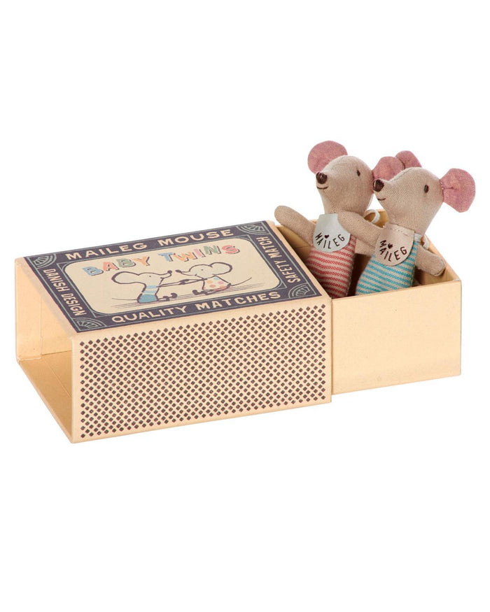 Little maileg play Baby Twin Mice in Box