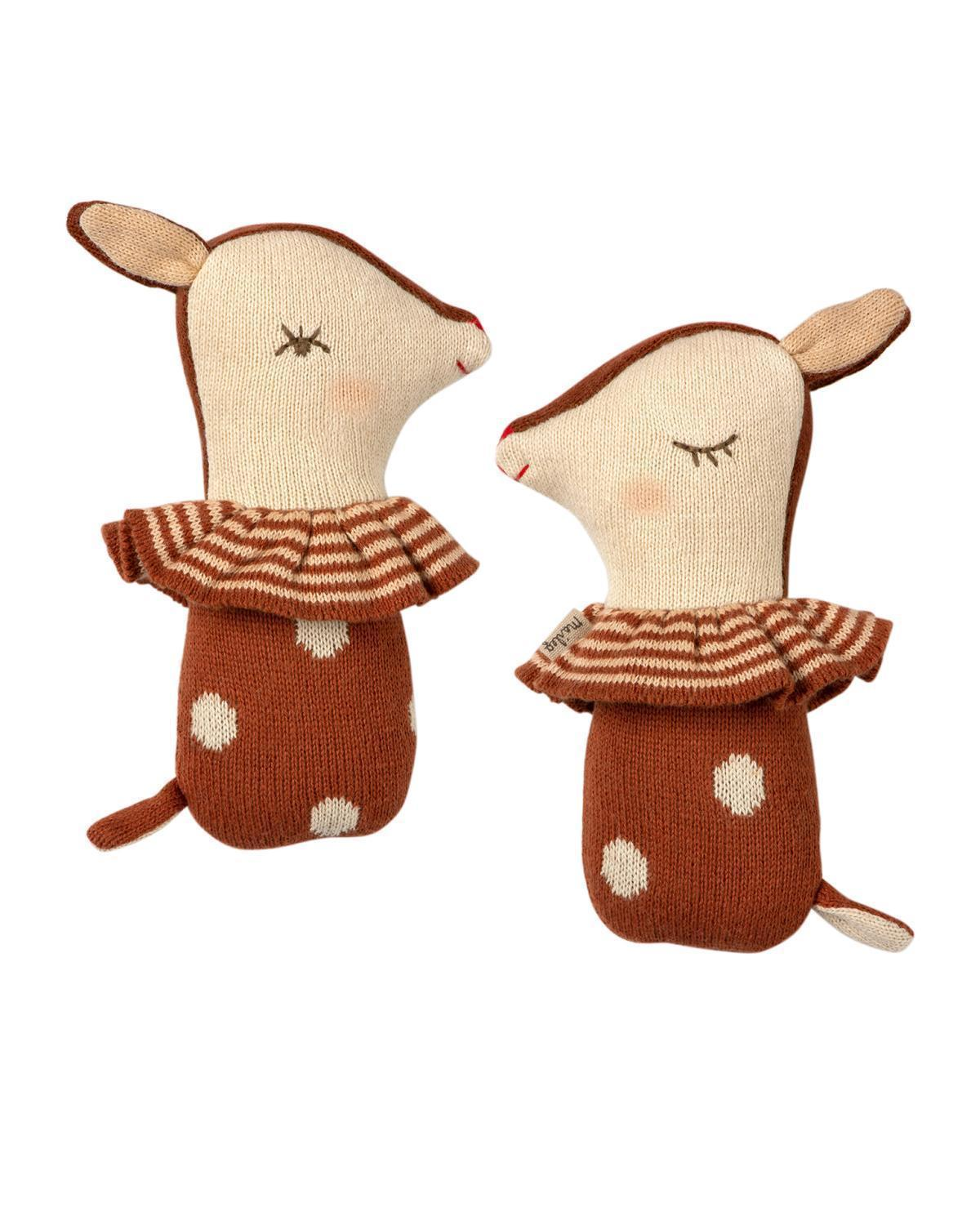 Little maileg baby accessories bambi rattle in rusty