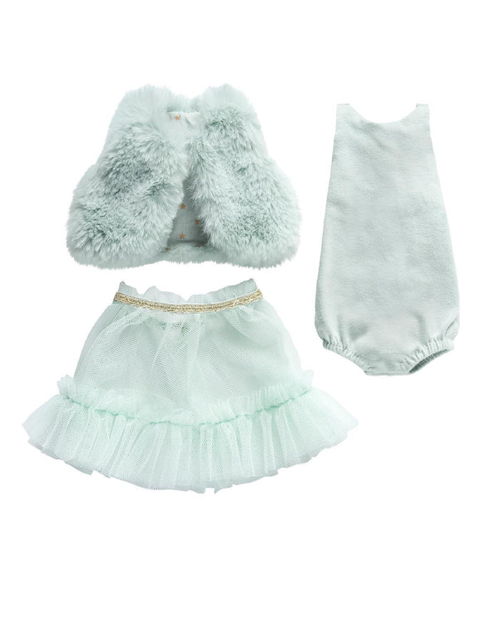 Little maileg play Best Friends Ballerina Dress in Mint