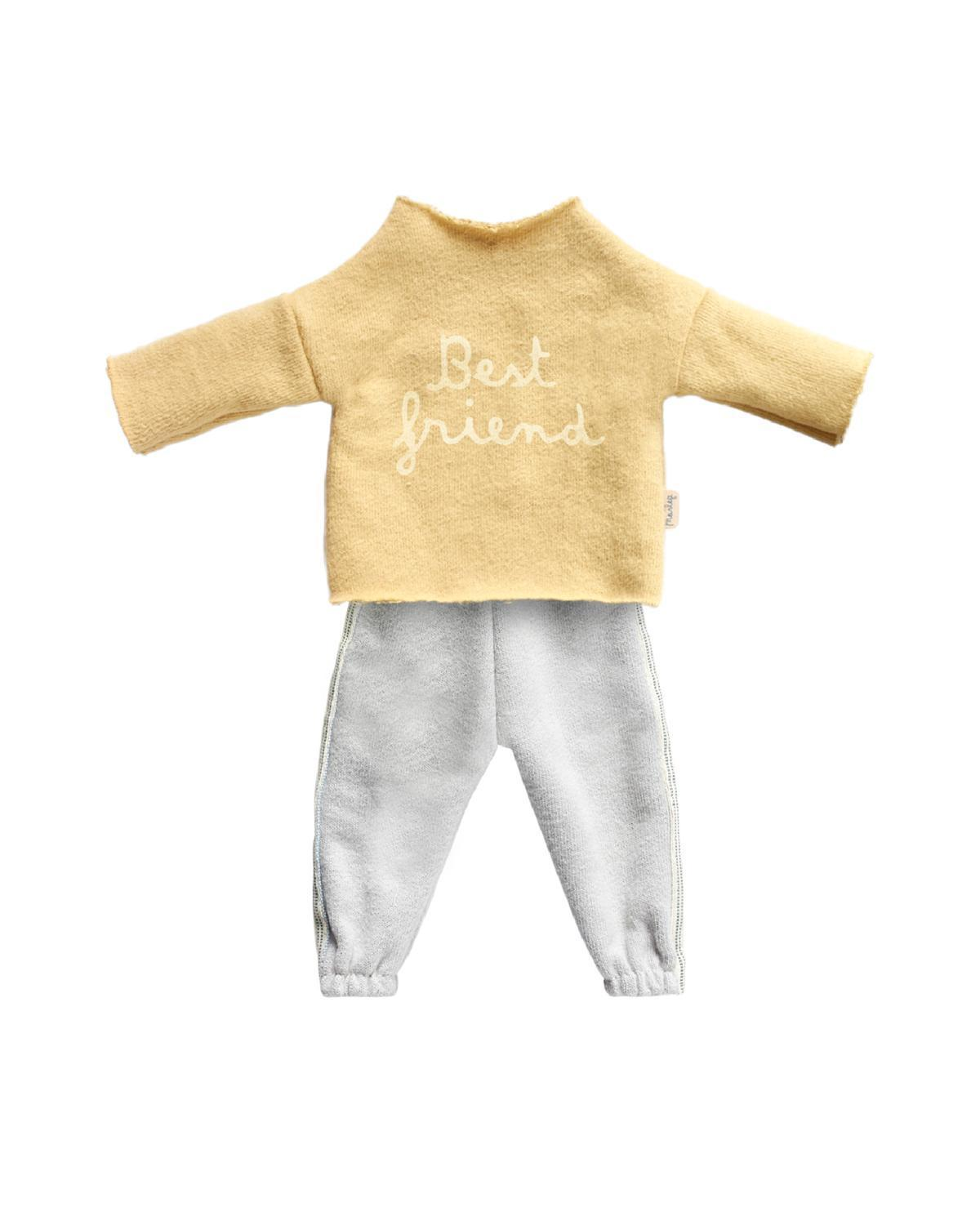 Little maileg play Best Friends Jogging Suit in Yellow