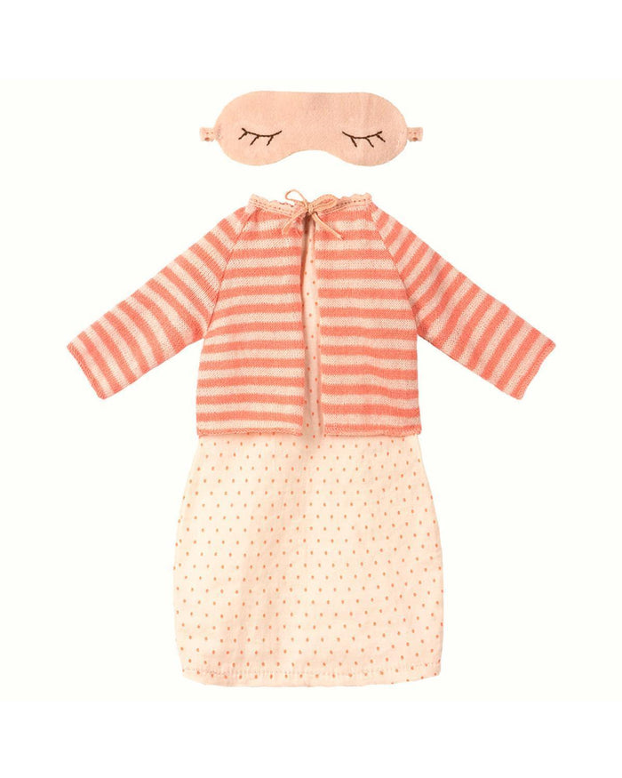 Little maileg play best friends nightdress + cardigan in coral