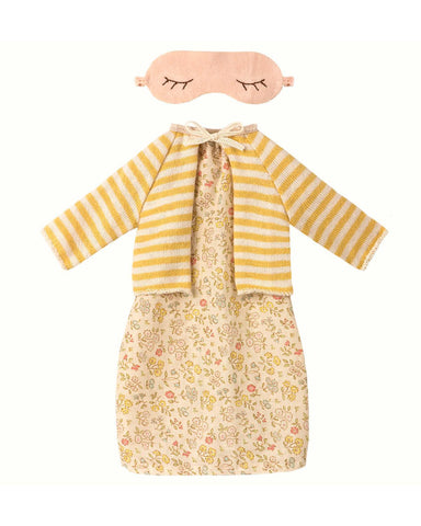 Little maileg play best friends nightdress + cardigan in yellow