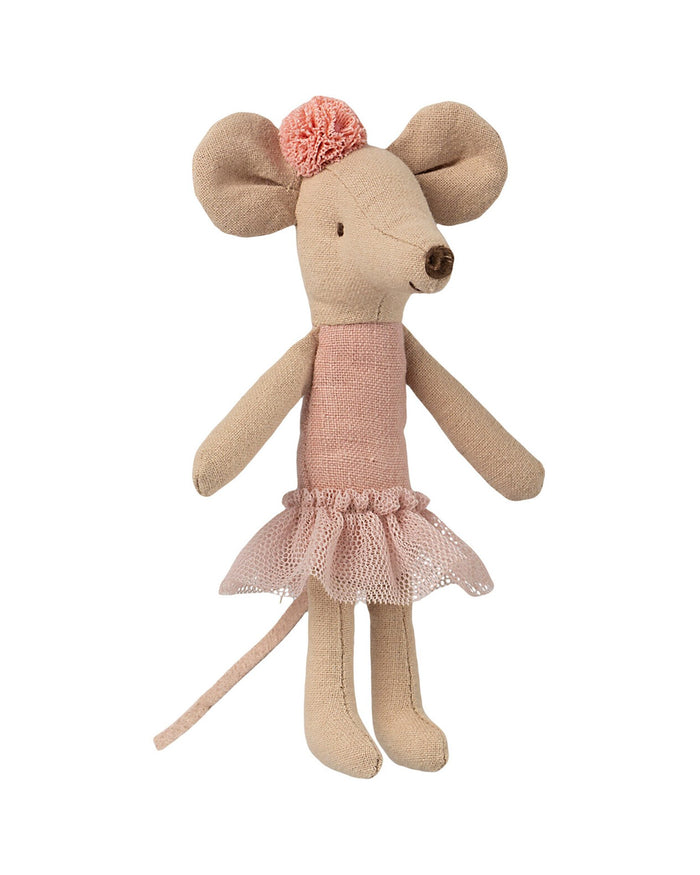 Little maileg play big sister ballerina mouse with pompom