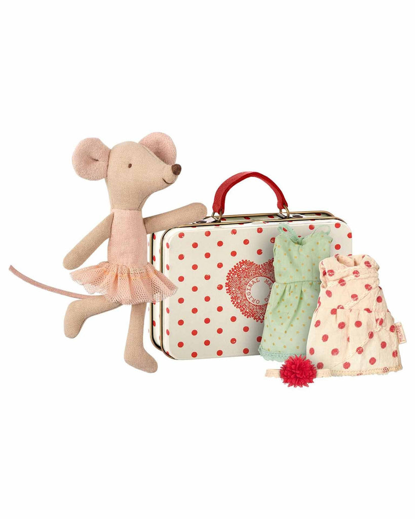 Little maileg play big sister ballerina mouse with two dresses