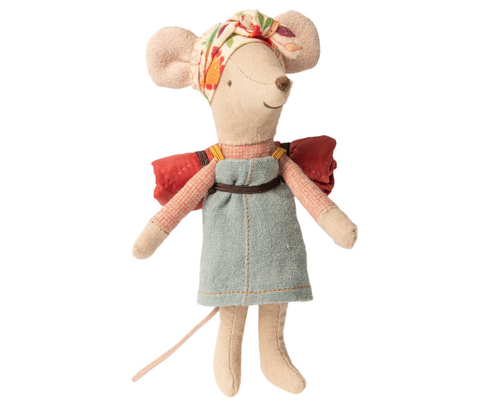 Little maileg play big sister hiker mouse