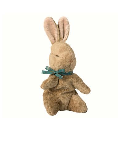 Little maileg play brown baby bunny in blue