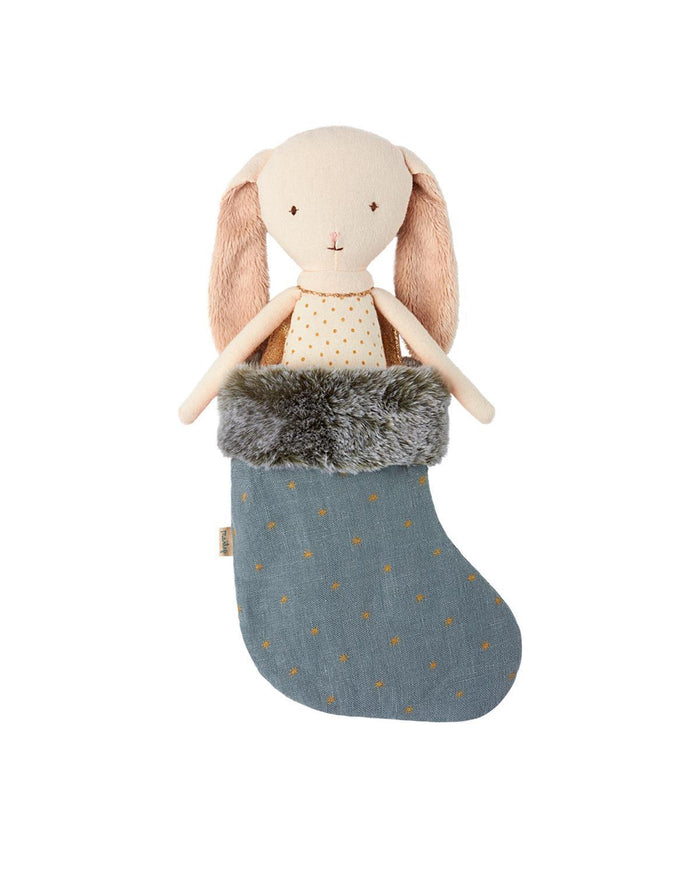 Little maileg play Bunny Angel in Stocking in Blue