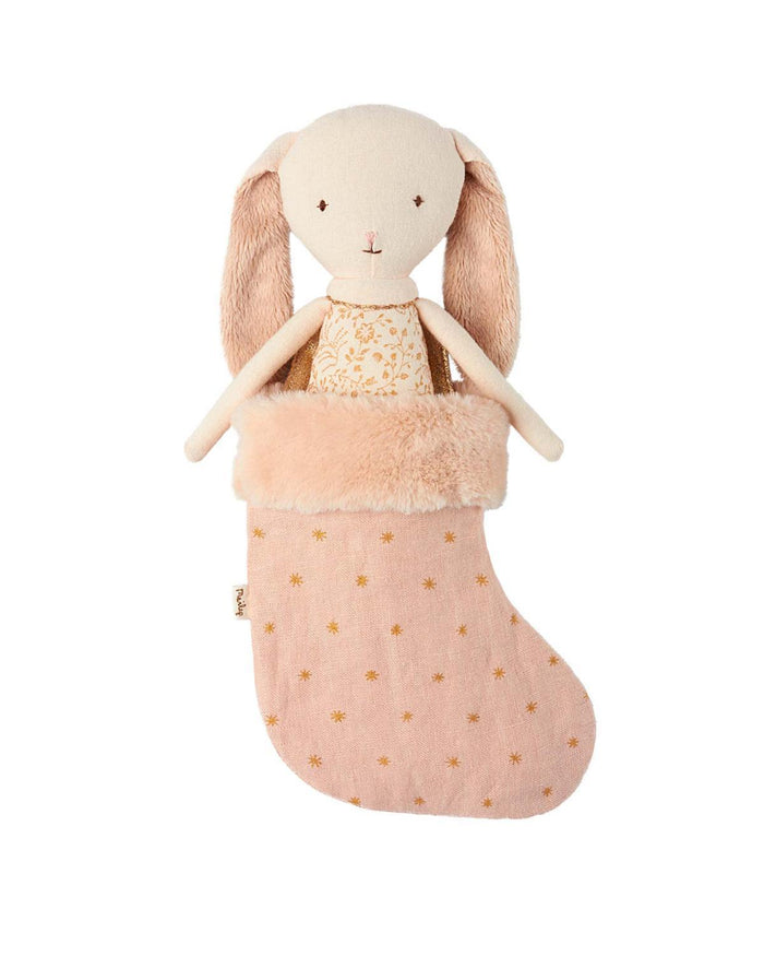 Little maileg play Bunny Angel in Stocking in Powder