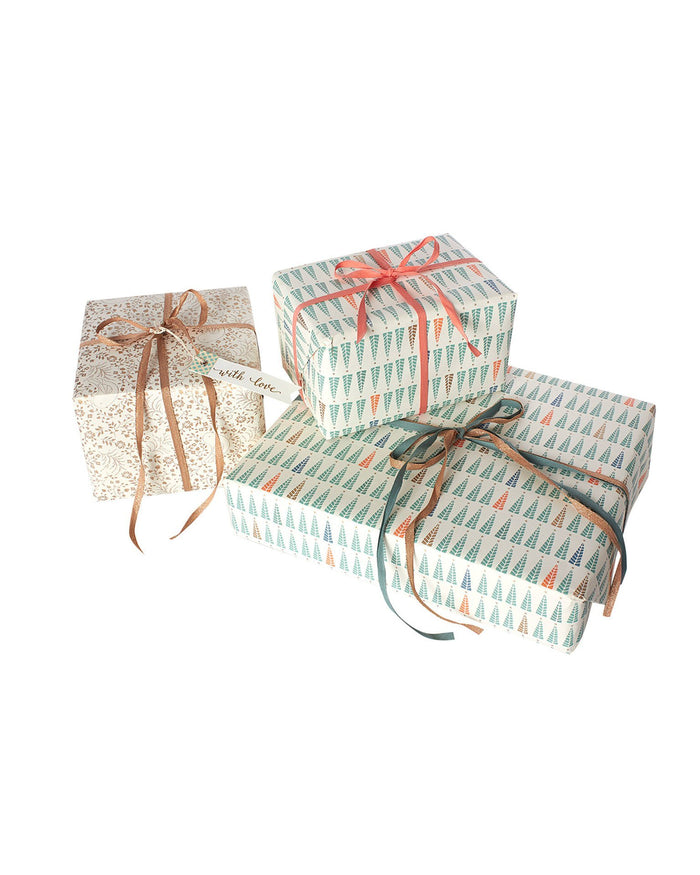 Little maileg paper+party christmas trees giftwrap