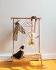 Little maileg play clothes rack + hangers in off white