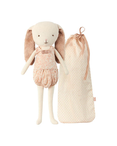 Little maileg play Dancing Bunny Bell in Bag in Rose