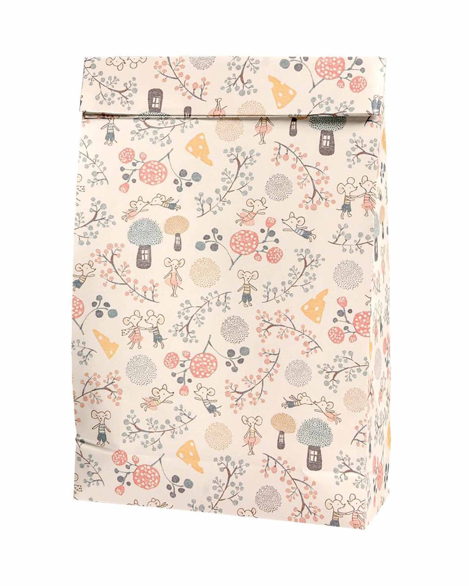 Little maileg paper+party gift bag in mice party