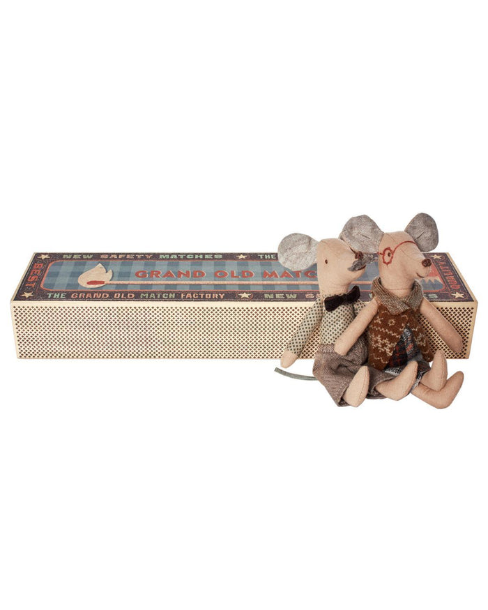 Little maileg play Grandpa + Grandma Mouse in Box