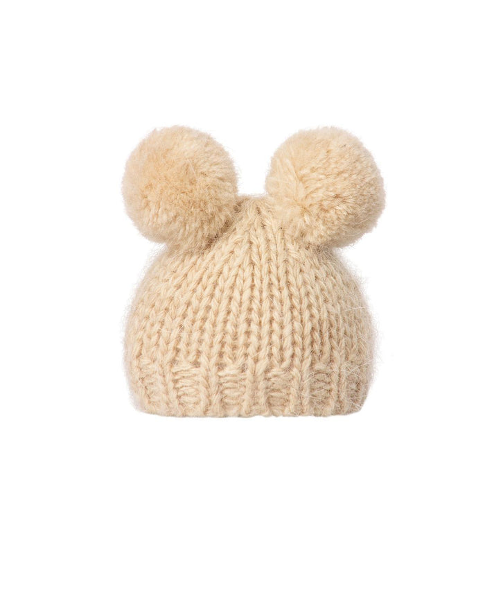 Little maileg play hand knitted hat in cream