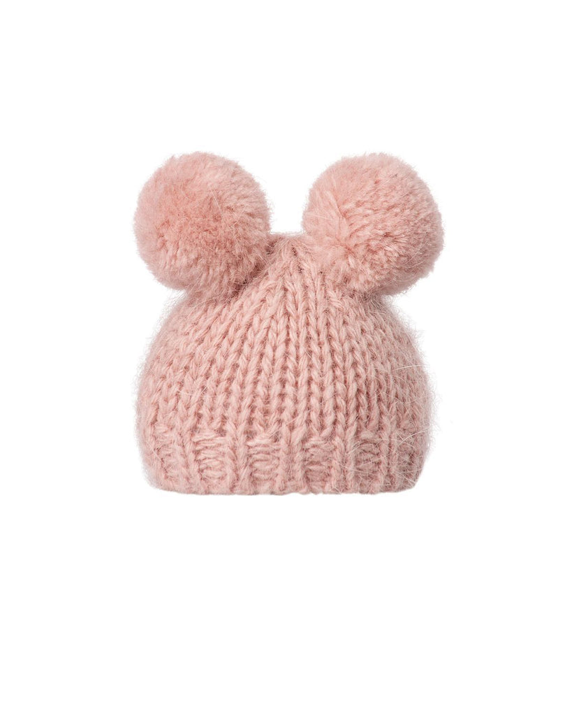 Little maileg play hand knitted hat in heather