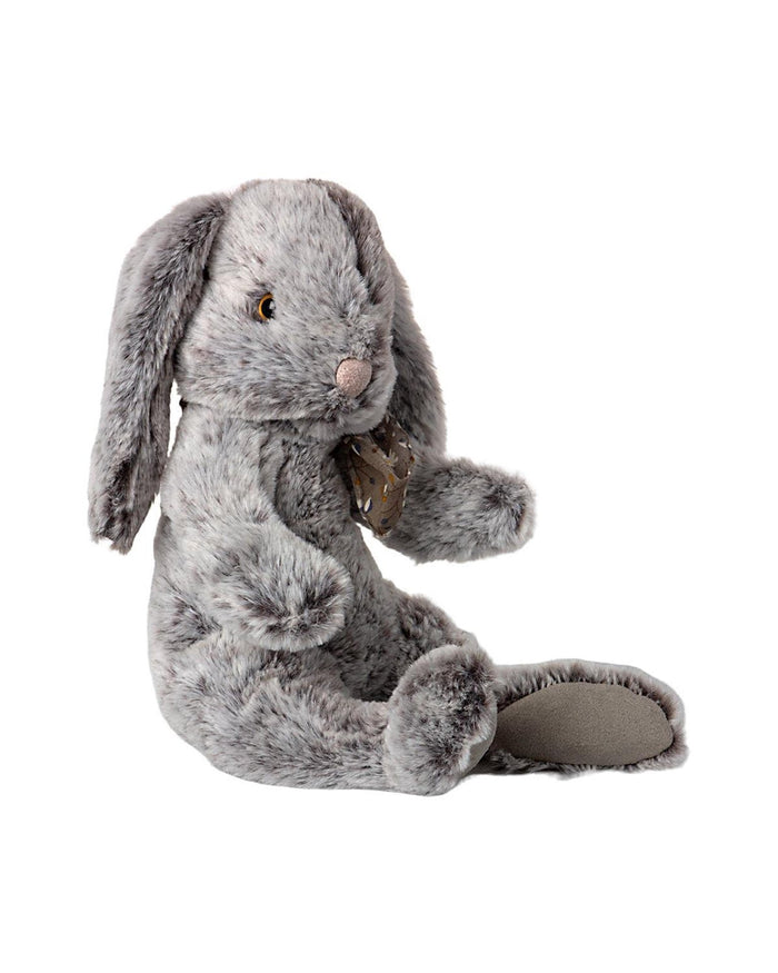Little maileg play large fluffy bunny in grey