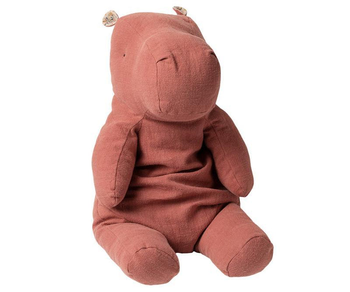 Little maileg play large hippo in dusty plum