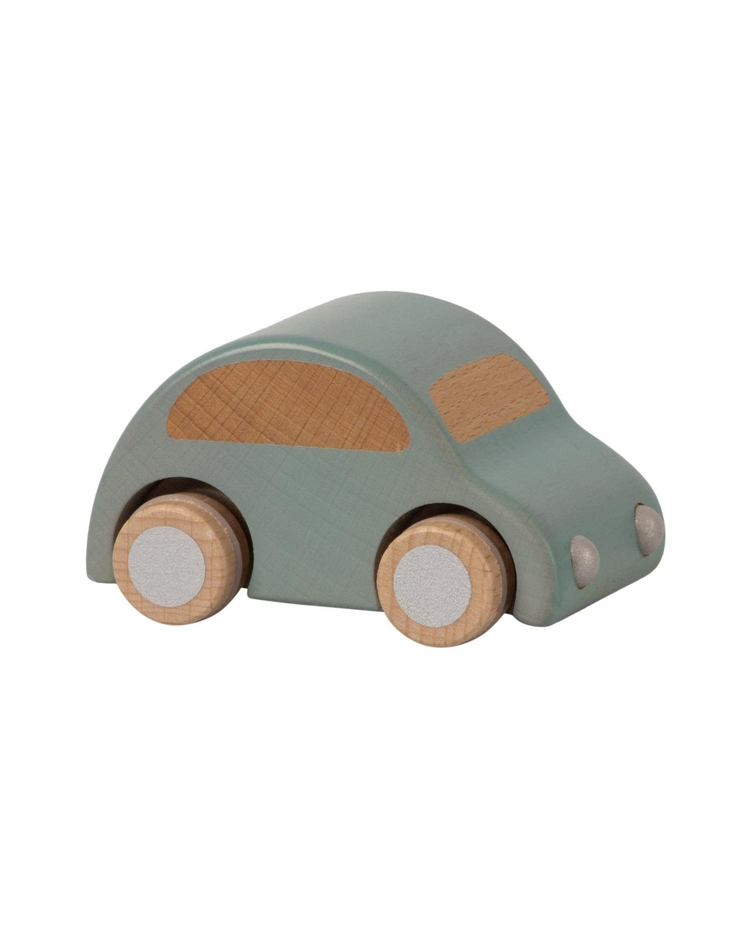 Little maileg play light blue wooden car