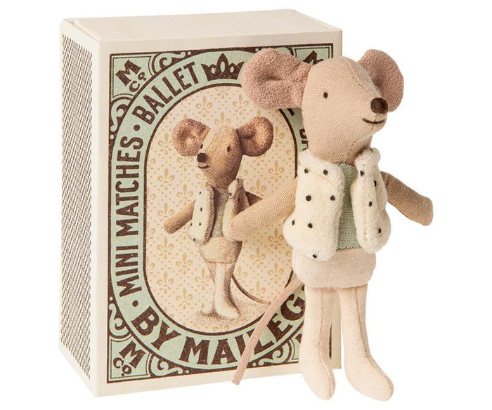 Little maileg play little brother dancer mouse in box