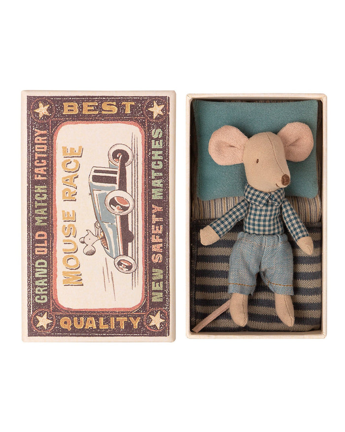 Little maileg play little brother mouse in matchbox
