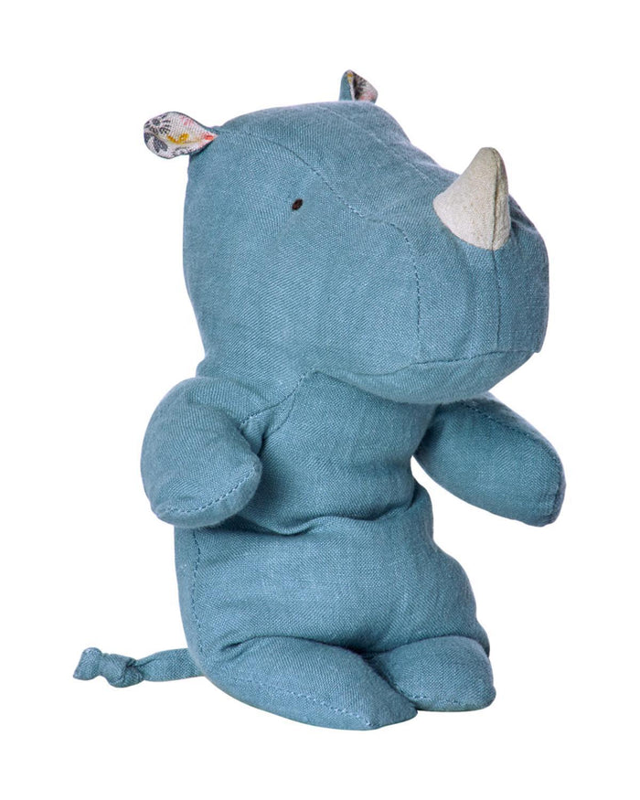 Little maileg play Little Rhino in Blue