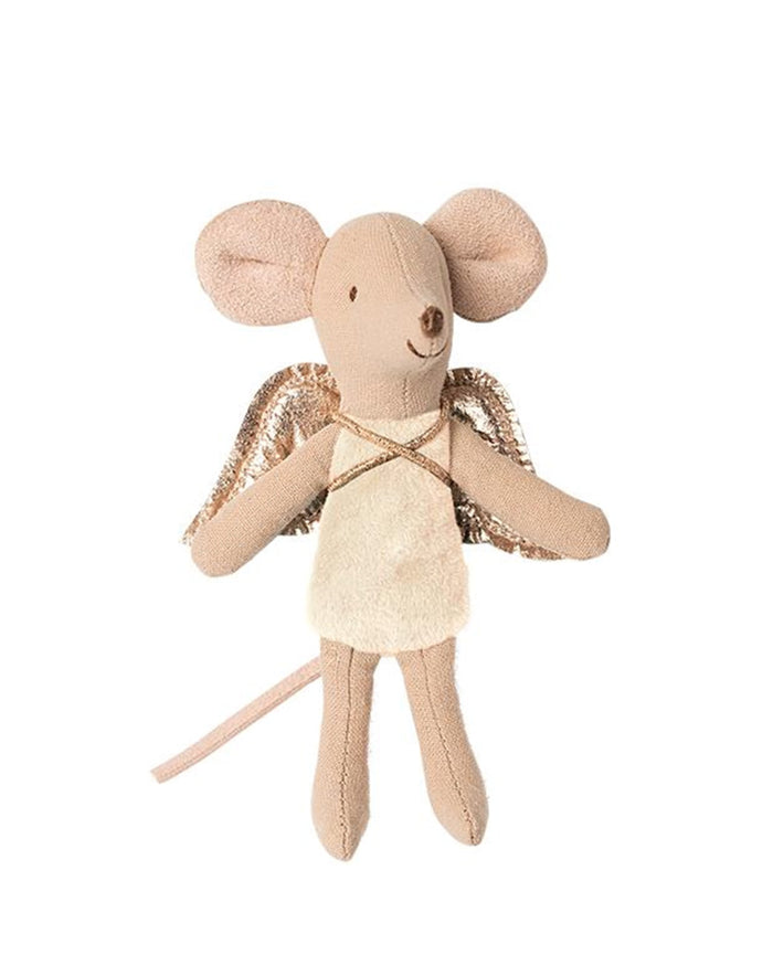 Little maileg play little sister fairy mouse in cream