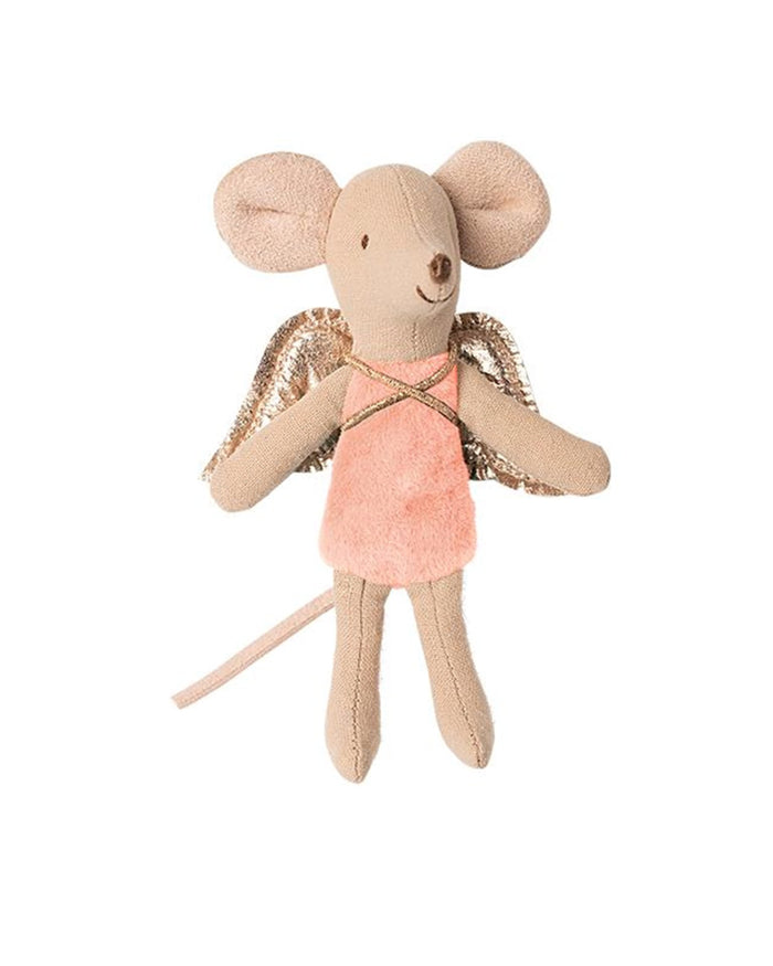 Little maileg play little sister fairy mouse in petal